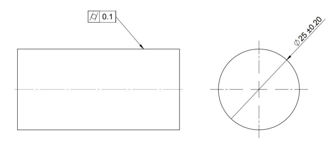This image shows the representation of gd&t cylindricity on engineering drawing.