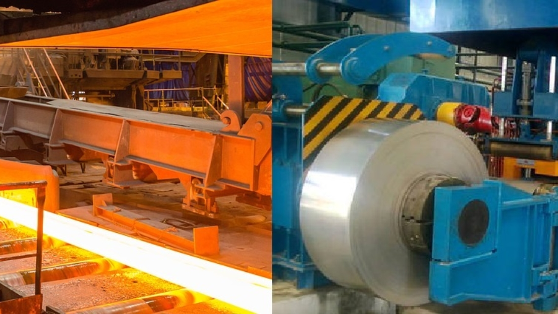 Hot rolled steel are processed over recrystalization temperature