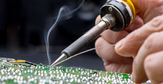 this image shows a Soldering Joint on the pcb.