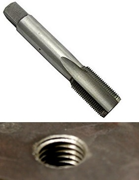 Tapping is a thread cutting operation inside a hole. This operation makes internal threads in existing hole.