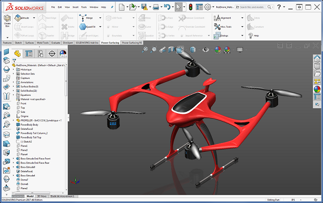 This image shows an example of Solidwork Parametric Modeling