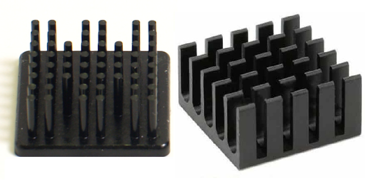 Heat sink airflow is affected by the arrangement of fins in heat sink.