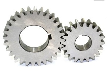 Spur gears have teeth parallel to the gear axis. They are used to transmit power between parallel shafts.