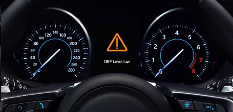 This image shows DEF warning symbol.