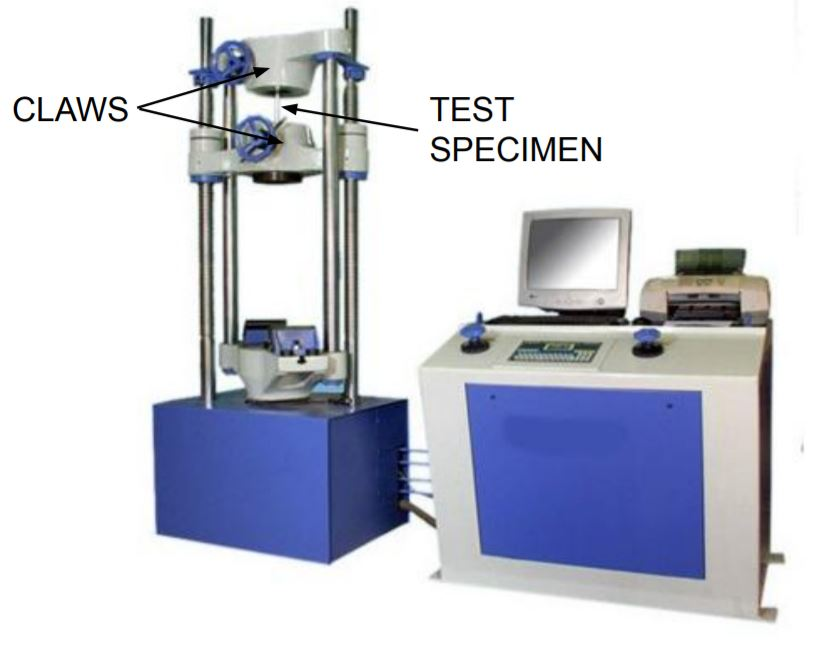 this image shows universal testing machine.