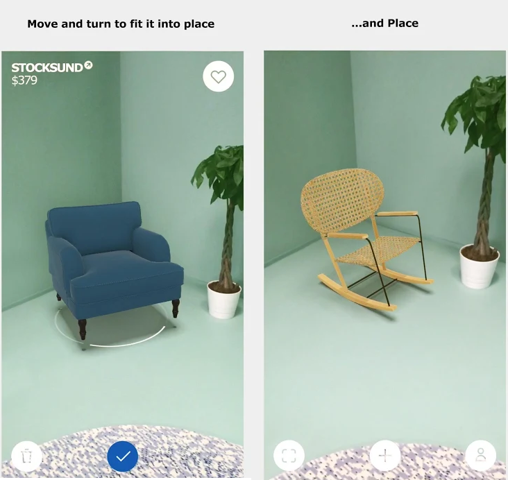 this image shows the example of a superimposed based Augmented Reality
