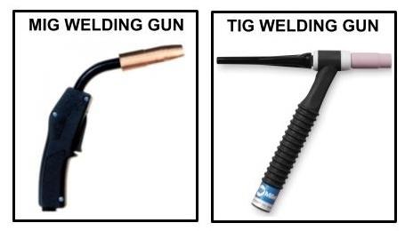 Mig and tig welding gun