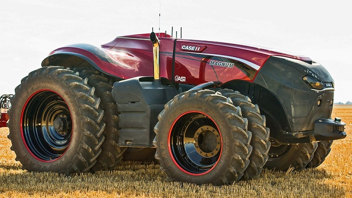 utonomous tractors are similar to self driving cars. They are capable of ploughing the field without human intervention.