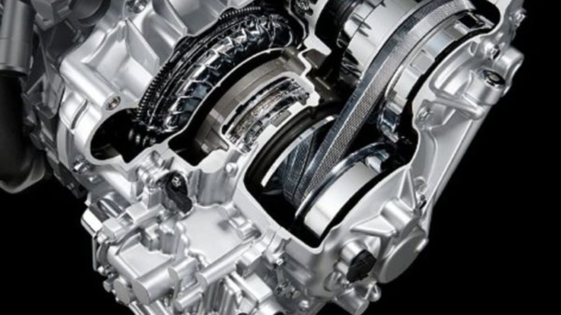 this image shows a CVT automatic Transmission Engine