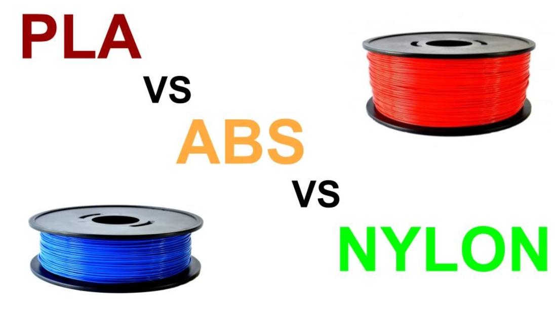 PLA vs ABS vs NYLON