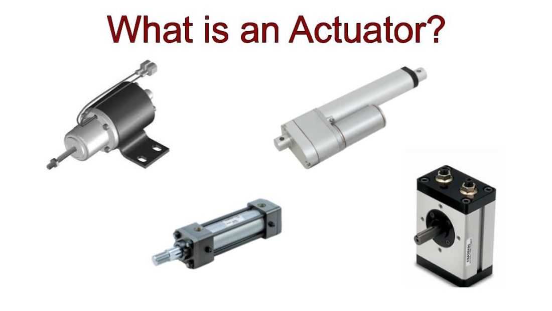 This image shows various actuators.