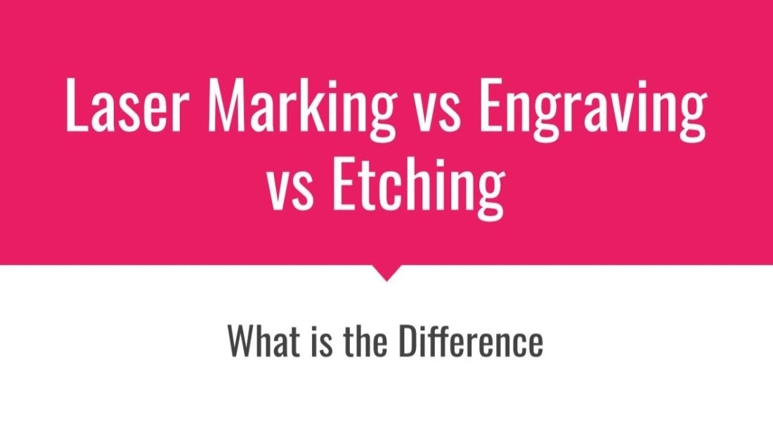 Laser Marking vs Engraving vs Etching