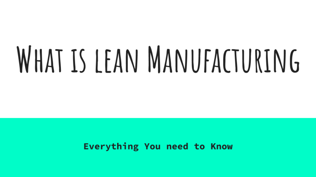 Lean Manufacturing Cover Page
