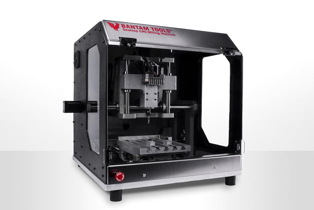 This image shows a desktop cnc machine from Bantam tools