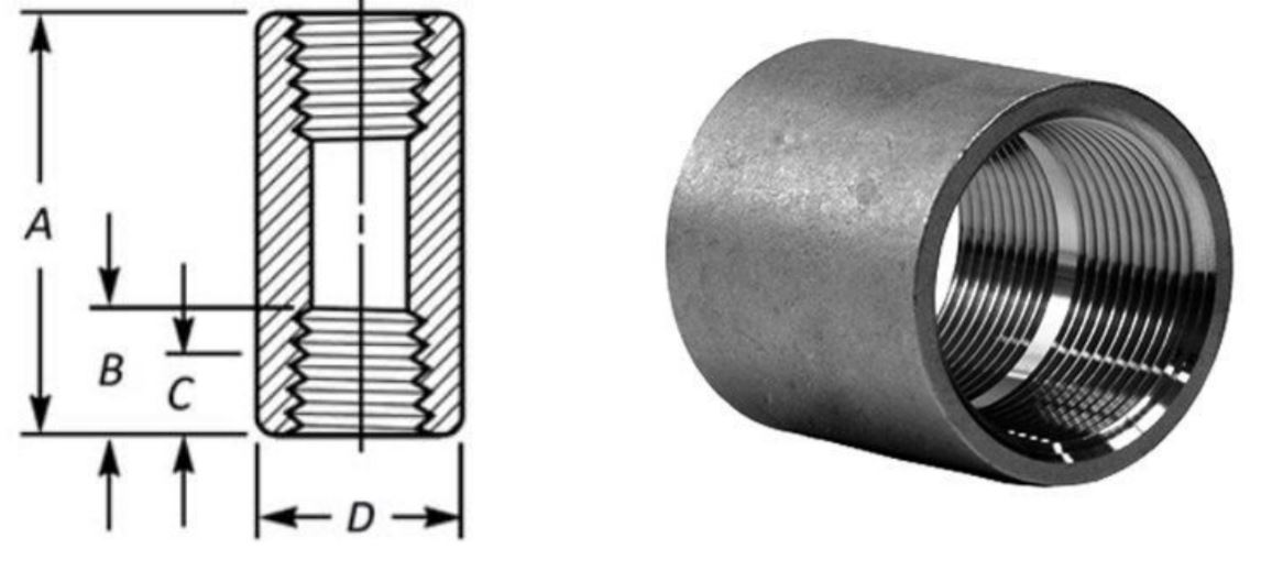 this image shows Full Threaded Pipe Coupling