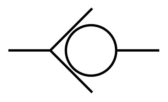 this image shows check valve symbol.
