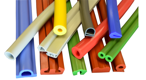 This image shows various types of Extruded Gaskets