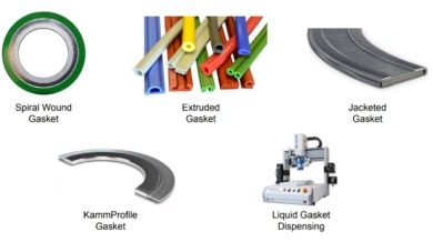 this image shows various Types of Gasket